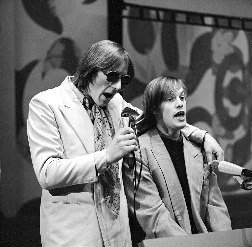 Tijdens een tv-optreden, 1970.