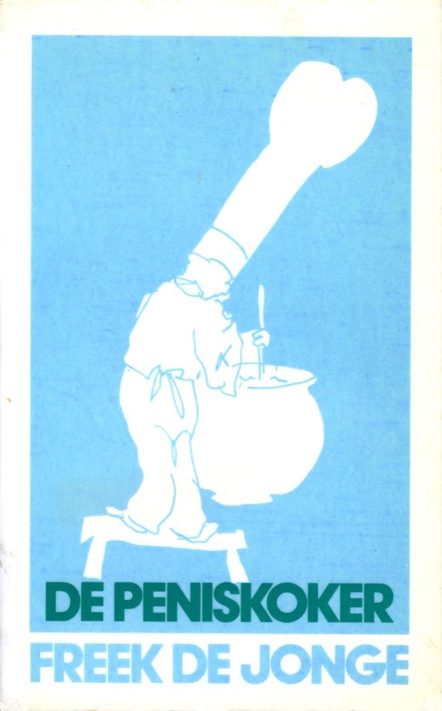 Schets van Freek voor het oorspronkelijke omslag van het boek De Brillenkoker, dat toen nog De Peniskoker heette.
