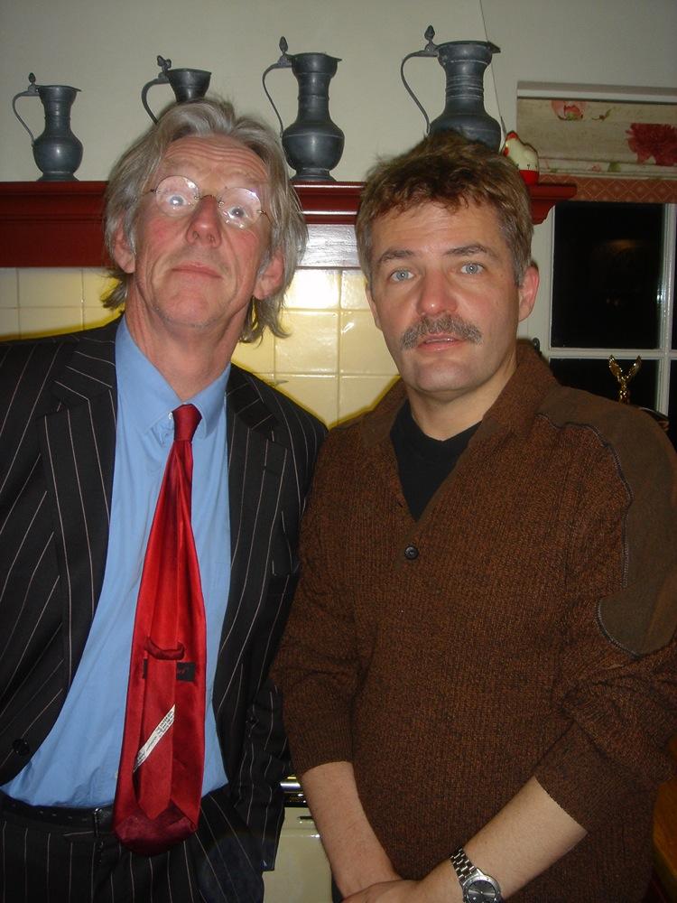 Met collega-cabaretier Herman Finkers.
